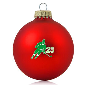 Hockey Glass Ornament Hockey Rink Turn Silhouette