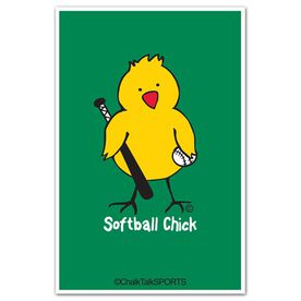 Softball Chick Decal