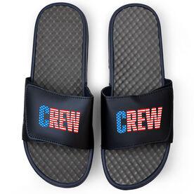 Crew Navy Slide Sandals - USA
