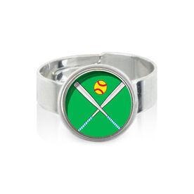 Softball Crossed Bats SportSNAPS Ring