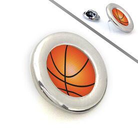 Basketball Lapel Pin Grip Basketball