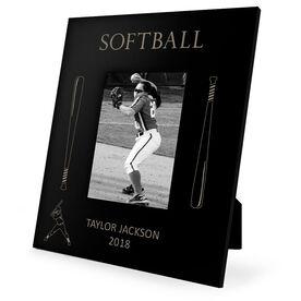 Softball Engraved Picture Frame - Softball Bats