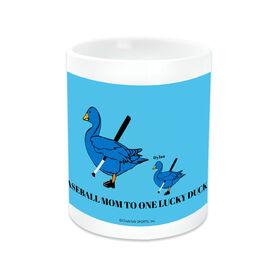 Baseball Ceramic Mug Mom Lucky Ducks