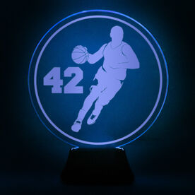 Basketball Acrylic LED Lamp B-ball Guy With Number