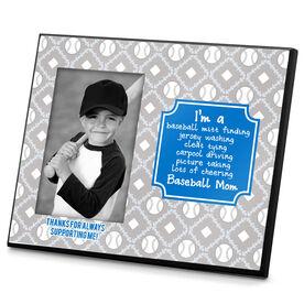Baseball Personalized Photo Frame Baseball Mom Poem With Baseball Pattern