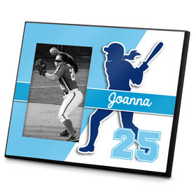 Softball Photo Frame Personalized Softball Batter Name and Number
