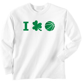 Basketball Tshirt Long Sleeve I Shamrock Basketball