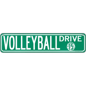 """Volleyball Aluminum Room Sign Personalized Volleyball Drive (4""""x18"""")"""