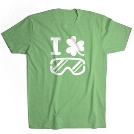 Snowboarding Short Sleeve T-Shirt - I Shamrock Snowboarding