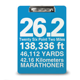 Running Custom Clipboard 26.2 Math Miles