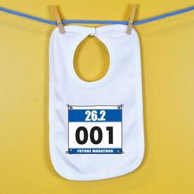 Future Marathoner Race Bib Baby Bib
