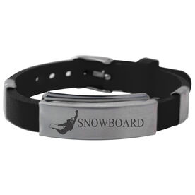 Snowboarding Silicone Bracelet Snowboard