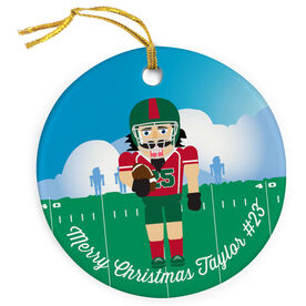 Football Porcelain Ornament Nutcracker