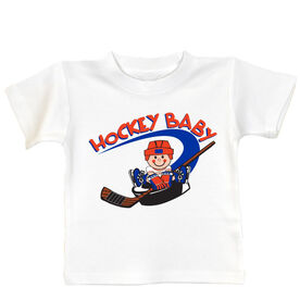Hockey Baby and Puck T-shirt