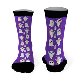 Hockey Printed Mid Calf Socks Hockey Ghosts
