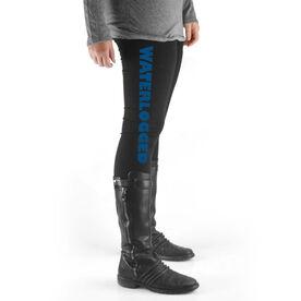 Swim High Print Leggings Waterlogged