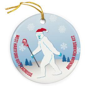 Guys Lacrosse Porcelain Ornament Abominable Laxman
