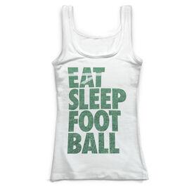 Football Vintage Fitted Tank Top - Eat Sleep Football