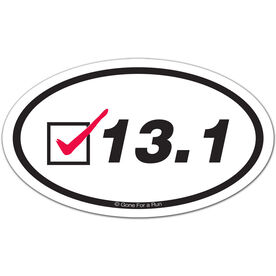 13.1 Check Oval Car Magnet