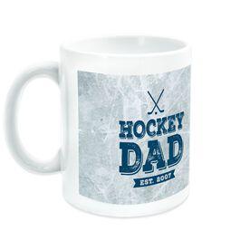 Hockey Ceramic Mug Dad With Ice Background