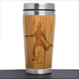 Bamboo Travel Tumbler Soccer Girl Player