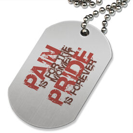 Pain is for the Moment' Printed Dog Tag Necklace