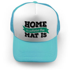 Wrestling Trucker Hat Home is Where the Mat is