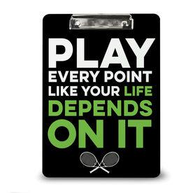 Tennis Custom Clipboard Play Every Point