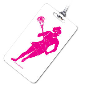 Lacrosse Bag/Luggage Tag Lacrosse Girl Player