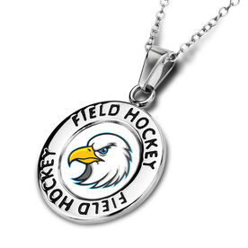 Field Hockey Circle Necklace Your Logo
