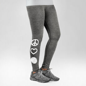 Volleyball Performance Tights Peace Love Volleyball