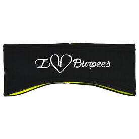 Cross Training Reversible Performance Headband I Heart Burpees