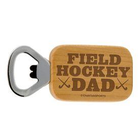 Field Hockey Dad Maple Bottle Opener