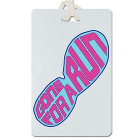 Gone For a Run (Pink Shoe) Personalized Sport Bag/Luggage Tag