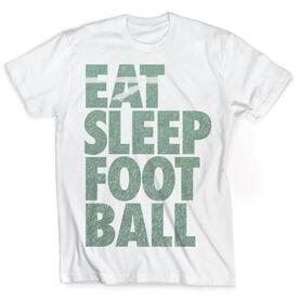 Vintage Football T-Shirt - Eat Sleep Football