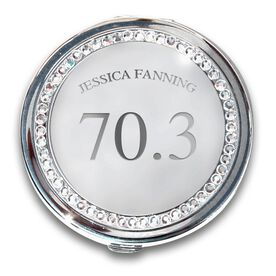 Silver Personalized 70.3 Compact Mirror