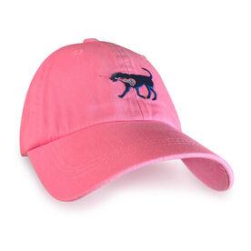 Girls Lacrosse Dog Hat - Preppy Pink