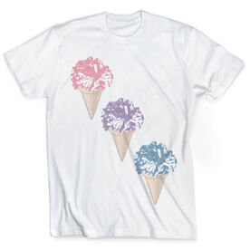 Vintage Cheerleading T-Shirt - Cheerleaders Scream For Ice Cream