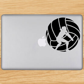 Volleyball Removable Laptop Decal Volleyball Player Silhouette