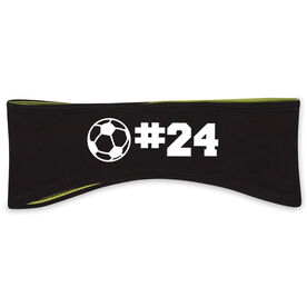 Soccer Reversible Performance Headband Personalized Number Soccer Ball