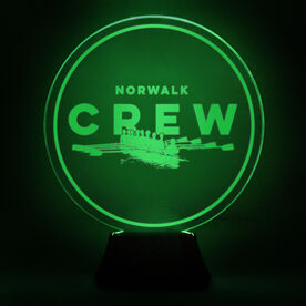 Crew Acrylic LED Lamp Boat With Team Name