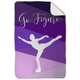 Figure Skating Sherpa Fleece Blanket Go Figure