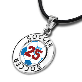 Soccer Circle Necklace Soccer Graphic Your Number