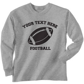 Custom Football T-Shirt Long Sleeve