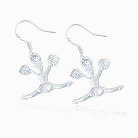 Silver Cheerleader Earrings