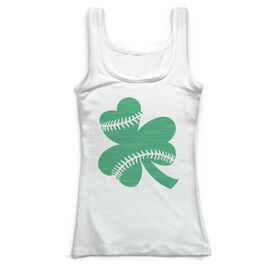 Baseball Vintage Fitted Tank Top - Shamrock Stitches