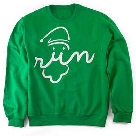 Running Crew Neck Sweatshirt Santa Run Face