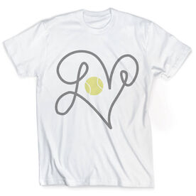 Vintage Tennis T-Shirt - Tennis Ball Love