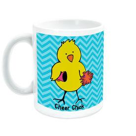 Cheerleading Ceramic Mug Cheer Chick Chevron