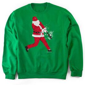 Baseball Crew Neck Sweatshirt Home Run Santa
